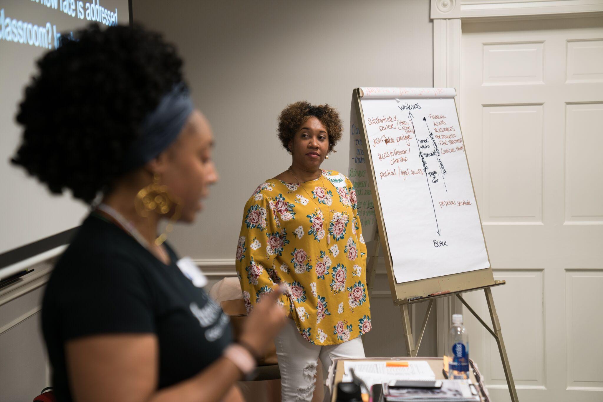 Border Crossers presenters at a workshop